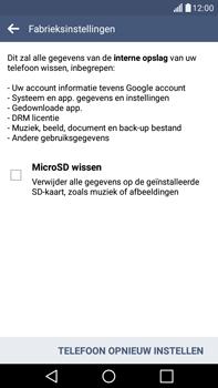 LG G4 Stylus (LG-H635) - Instellingen aanpassen - Fabrieksinstellingen terugzetten - Stap 7