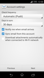 Sony D2203 Xperia E3 - Email - Manual configuration - Step 16