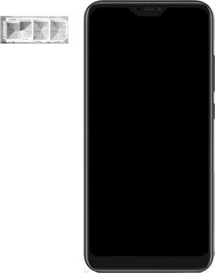 Xiaomi Mi A2 Lite - Appareil - comment insérer une carte SIM - Étape 3