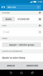 HTC Desire 510 - Contact, Appels, SMS/MMS - Ajouter un contact - Étape 12
