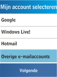 Samsung C3300K - E-mail - Handmatig instellen - Stap 11