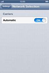 Apple iPhone 4 S iOS 6 - Network - Usage across the border - Step 4