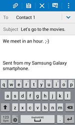 Samsung Galaxy Xcover 3 (G388F) - Email - Sending an email message - Step 10