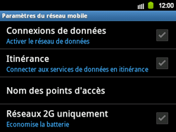 Samsung B5510 Galaxy TXT - Internet - configuration manuelle - Étape 7