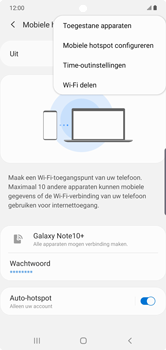 Samsung galaxy-note-10-plus-single-sim-sm-n975f - WiFi - Mobiele hotspot instellen - Stap 8
