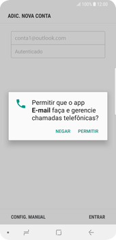 Samsung Galaxy S9 - Email - Como configurar seu celular para receber e enviar e-mails - Etapa 8