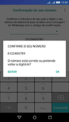 Huawei Y6 - Aplicações - Como configurar o WhatsApp -  7