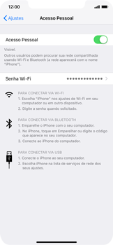 Apple iPhone XR - Wi-Fi - Como usar seu aparelho como um roteador de rede wi-fi - Etapa 8