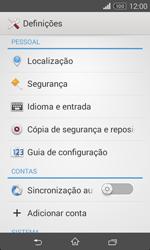 Sony Xperia E1 - Segurança - Como ativar o código PIN do cartão de telemóvel -  4