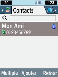 Samsung C3590 - Contact, Appels, SMS/MMS - Envoyer un SMS - Étape 5