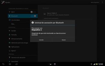Sony Xperia Tablet Z - Bluetooth - Conectar dispositivos a través de Bluetooth - Paso 7