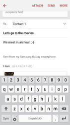 Samsung G903F Galaxy S5 Neo - Email - Sending an email message - Step 19