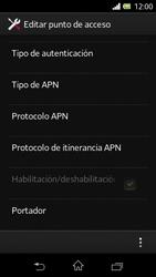 Sony Xperia L - Mensajería - Configurar el equipo para mensajes multimedia - Paso 13