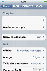 Apple iPhone 4 S - E-mail - Configurer l