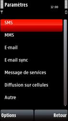 Nokia 5800 Xpress Music - SMS - configuration manuelle - Étape 5