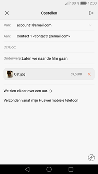 Huawei P9 Plus - E-mail - e-mail versturen - Stap 15