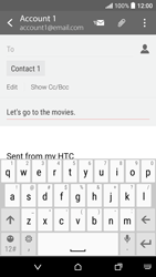 HTC Desire 530 - Email - Sending an email message - Step 9
