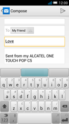 Alcatel OT-5036X Pop C5 - Email - Sending an email message - Step 8