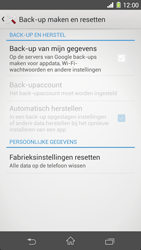 Sony Xperia Z1 4G (C6903) - Instellingen aanpassen - Fabrieksinstellingen terugzetten - Stap 5