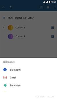 OnePlus 3 - Android Nougat - Contactgegevens overzetten - delen via Bluetooth - Stap 8