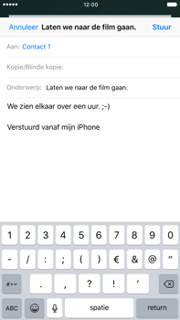Apple iPhone 6 Plus iOS 10 - E-mail - Bericht met attachment versturen - Stap 8