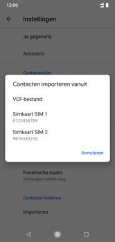 Xiaomi mi-a2-lite-dual-sim-m1805d1sg - Contacten en data - Contacten kopiëren van SIM naar toestel - Stap 8