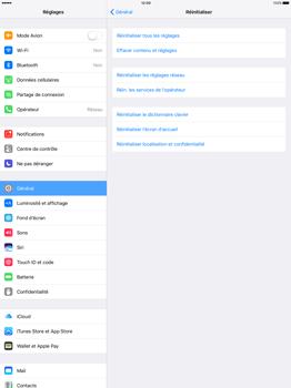 Apple iPad Pro 12.9 (1st gen) - iOS 10 - Device maintenance - Retour aux réglages usine - Étape 5