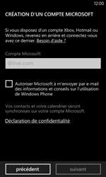 Nokia Lumia 520 - Applications - Créer un compte - Étape 12
