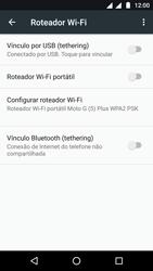 Motorola Moto G5 - Wi-Fi - Como usar seu aparelho como um roteador de rede wi-fi - Etapa 9
