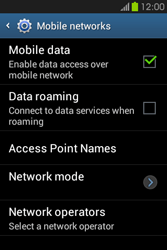 Samsung S6810P Galaxy Fame - Network - Usage across the border - Step 6