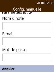 Nokia 8110 Banana - E-mail - Configuration manuelle - Étape 9