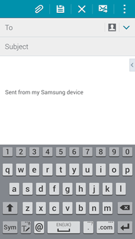 Samsung N910F Galaxy Note 4 - E-mail - Sending emails - Step 5