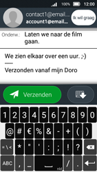 Doro 8031 ​​(Model DSB-0010) - E-mail - Hoe te versturen - Stap 13