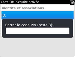 BlackBerry 9720 - Sécuriser votre mobile - Personnaliser le code PIN de votre carte SIM - Étape 9
