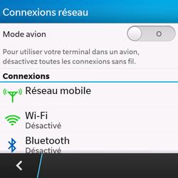 BlackBerry Q10 - Internet et connexion - Désactiver la connexion Internet - Étape 5
