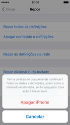 Apple iPhone 5s iOS 10 - Repor definições - Como repor definições de fábrica do telemóvel -  8
