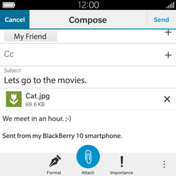 BlackBerry Classic - Email - Sending an email message - Step 16