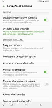 Samsung Galaxy Note 8 - Android Oreo - Chamadas - Como bloquear chamadas de um número -  6