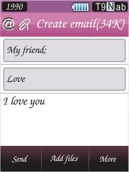 Samsung S7070 Diva - E-mail - Sending emails - Step 14