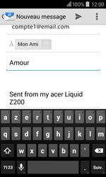 Acer Liquid Z200 - E-mail - Envoi d