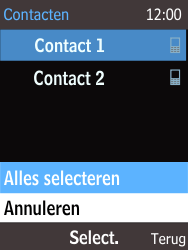 Nokia 220 - Contacten en data - Contacten kopiëren van toestel naar SIM - Stap 9