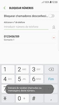 Samsung Galaxy S7 Edge - Android Oreo - Chamadas - Como bloquear chamadas de um número -  11