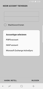 Samsung galaxy-s8-g950-android-oreo - E-mail - Account instellen (POP3 zonder SMTP-verificatie) - Stap 9