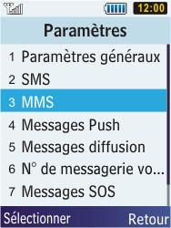 Samsung S5610 Primo - MMS - configuration manuelle - Étape 6