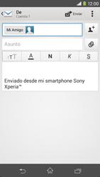 Sony Xperia M2 - E-mail - Escribir y enviar un correo electrónico - Paso 8