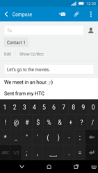 HTC One M8s - Email - Sending an email message - Step 10