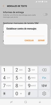 Samsung Galaxy S8 Plus - Mensajería - Configurar el equipo para mensajes de texto - Paso 9