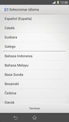 Sony Xperia Z1 - Primeros pasos - Activar el equipo - Paso 2