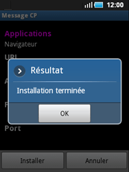 Samsung S5570 Galaxy Mini - Internet - configuration automatique - Étape 8