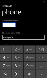 Nokia Lumia 520 - Voicemail - Manual configuration - Step 7
